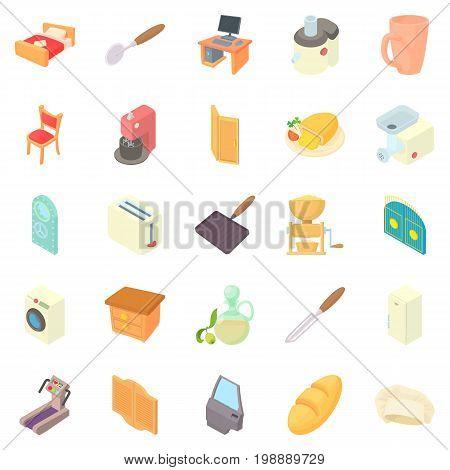 Grange icons set. Cartoon set of 25 grange vector icons for web isolated on white background