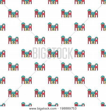 Bounce house pattern in cartoon style. Seamless pattern vector illustration