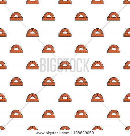 Protractor pattern in cartoon style. Seamless pattern vector illustration