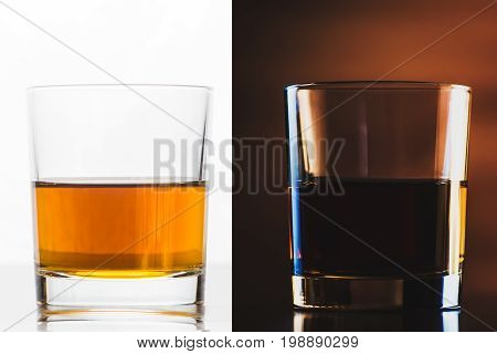 Scotch On Wooden Background With Copyspace