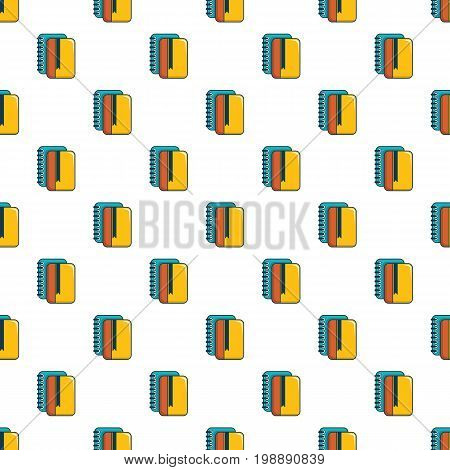 Copybook pattern in cartoon style. Seamless pattern vector illustration