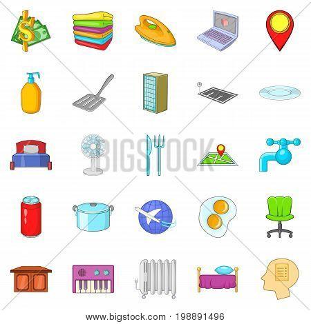 Pub icons set. Cartoon set of 25 pub vector icons for web isolated on white background