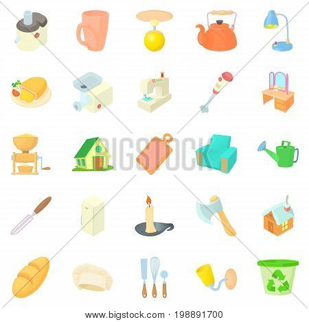 Homeliness icons set. Cartoon set of 25 homeliness vector icons for web isolated on white background