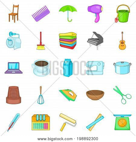 Housekeeping icons set. Cartoon set of 25 housekeeping vector icons for web isolated on white background
