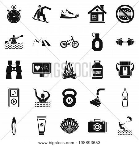 Therapeutic therapy icons set. Simple set of 25 therapeutic therapy vector icons for web isolated on white background