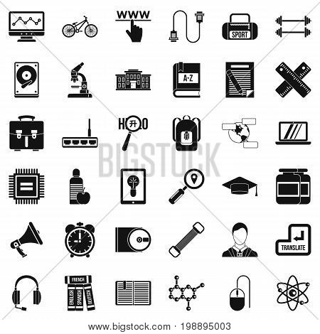 Seminar icons set. Simple style of 36 seminar vector icons for web isolated on white background