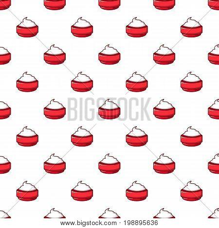 Ice cream pattern in cartoon style. Seamless pattern vector illustration
