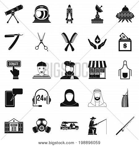Human resources department icons set. Simple set of 25 human resources department vector icons for web isolated on white background