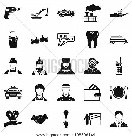 HR icons set. Simple set of 25 hr vector icons for web isolated on white background
