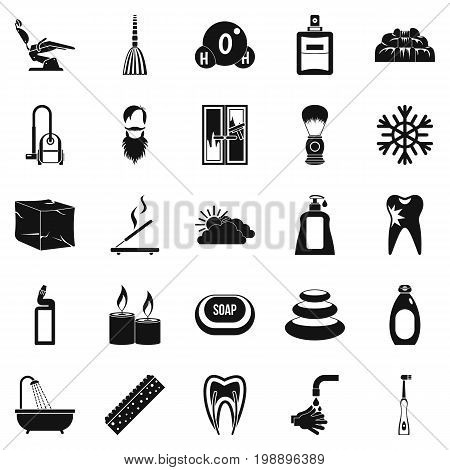 Bathe icons set. Simple set of 25 bathe vector icons for web isolated on white background