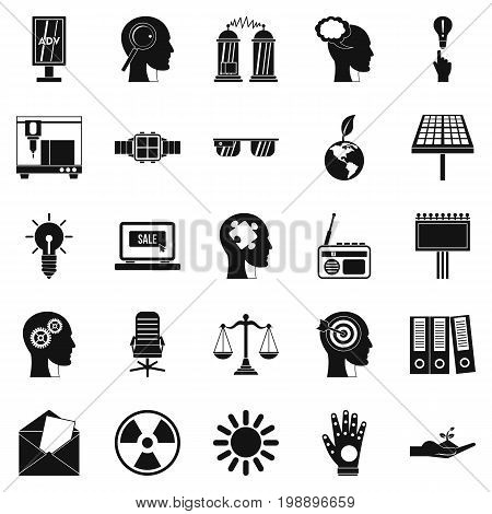 Representation icons set. Simple set of 25 representation vector icons for web isolated on white background