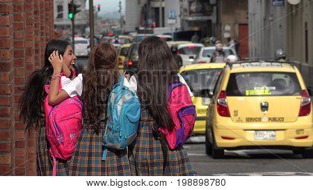 Inner City School Kids Walking To School