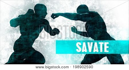 Savate Martial Arts Self Defence Training Concept 3D Illustration Render
