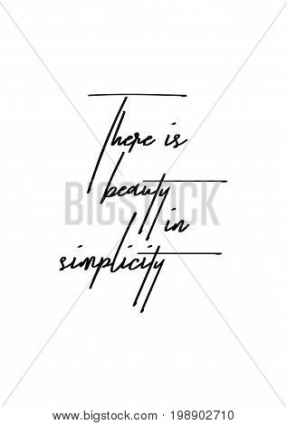 Hand drawn holiday lettering. Ink illustration. Modern brush calligraphy. Isolated on white background. There is beauty in simplicity.