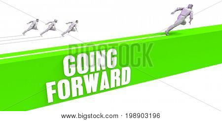 Going Forward as a Fast Track To Success 3D Illustration Render