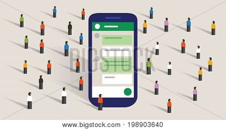 group chat community of people digital conversation public communication forum vector