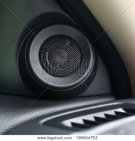Small Loudspeaker Stereo Music Audio In Modern Car