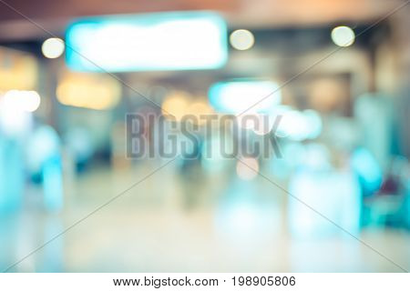 Blur Background,people Walking At Corridor In Convention Hall, Office Building Hall Way Background