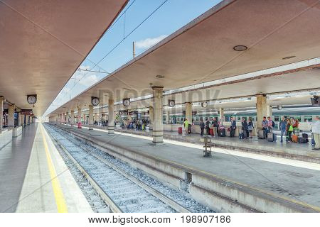 Florence, Italy - May 15, 2017 : Florence  Railways Station- Firenze Santa Maria Novella .italy.