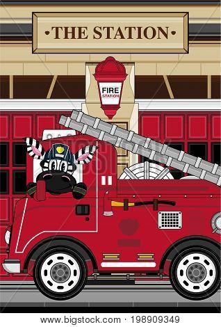 Zebra Fireman Scene 1