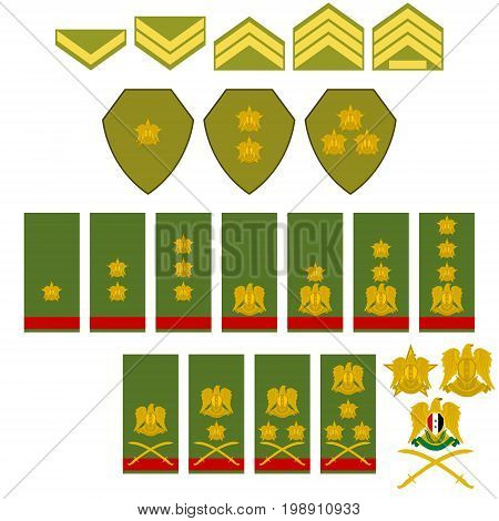Insignia Syrian army. The illustration on a white background.