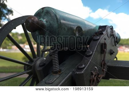 Very Old Artillery Canon In A Park