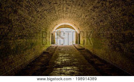 underground tunnel in lost forth