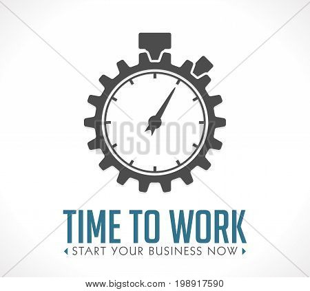 Logo - time to work- start your business now