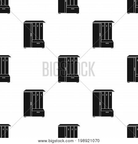 Vestibule wardrobe icon in black style isolated on white background. Furniture and home interior symbol vector illustration.