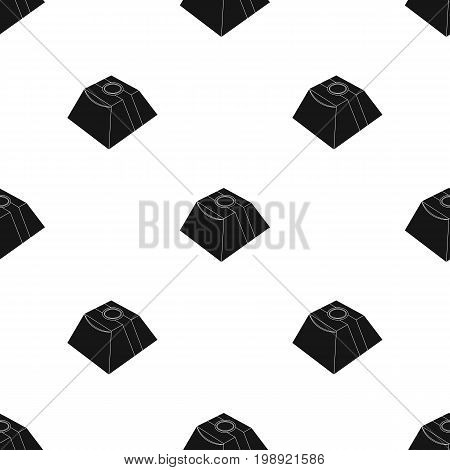 Gift in the form of a pyramid. Gift wrap on holiday.Gifts and Certificates single icon in black style vector symbol stock web illustration.