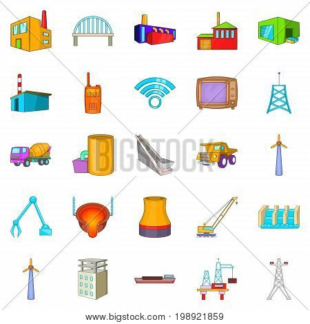 Operation icons set. Cartoon set of 25 operation vector icons for web isolated on white background
