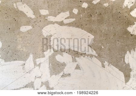 Gray concrete wall textured surface of putty. Abstraction