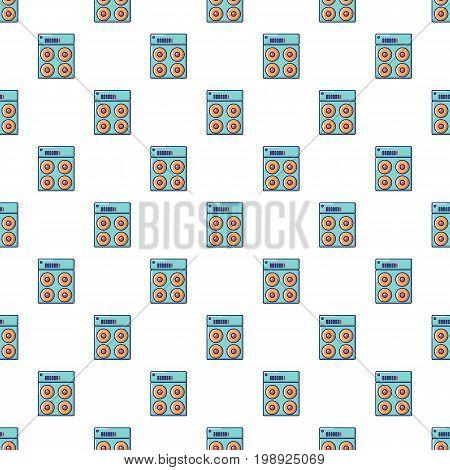 Speaker box pattern in cartoon style. Seamless pattern vector illustration
