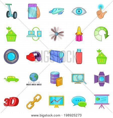 Introduction icons set. Cartoon set of 25 introduction vector icons for web isolated on white background