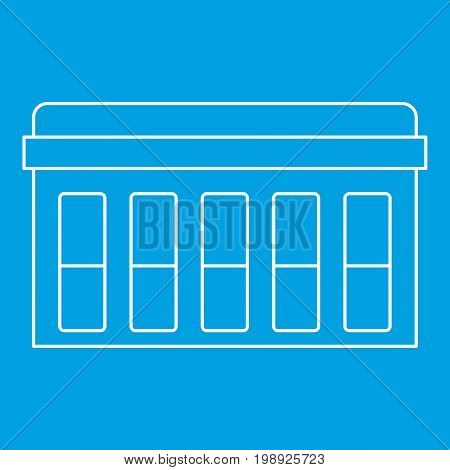 Circuit board, technology icon blue outline style isolated vector illustration. Thin line sign