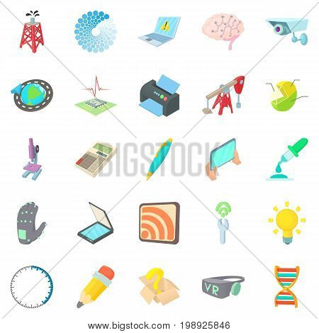 Pioneer work icons set. Cartoon set of 25 pioneer work vector icons for web isolated on white background