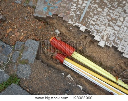 Reconstruction Of A Street With Instalation Of Pipes