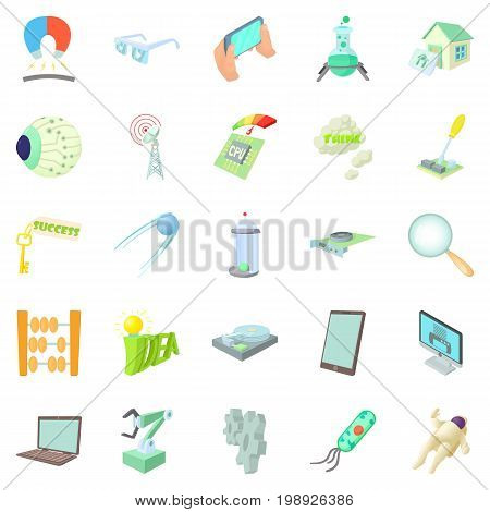 Innovation icons set. Cartoon set of 25 innovation vector icons for web isolated on white background