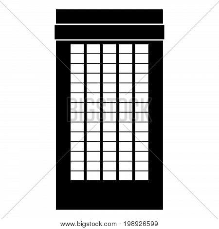 Building Black Color Icon .
