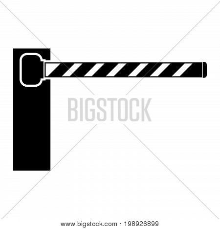 Barrier Black Color Icon .