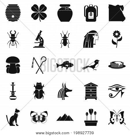 Bug icons set. Simple set of 25 bug vector icons for web isolated on white background