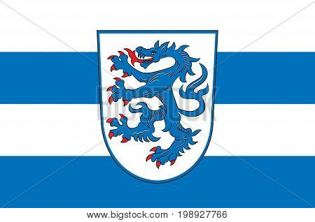 Flag of Ingolstadt is a city in the Free State of Bavaria in the Federal Republic of Germany. Vector illustration