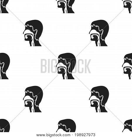 Respiratory system icon black. Single medicine icon from the big medical, healthcare black.
