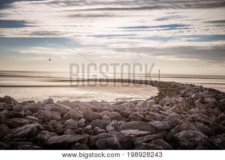 A Beautiful View Of Morecambe Coast