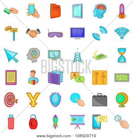 Web designer icons set. Cartoon style of 36 web designer vector icons for web isolated on white background