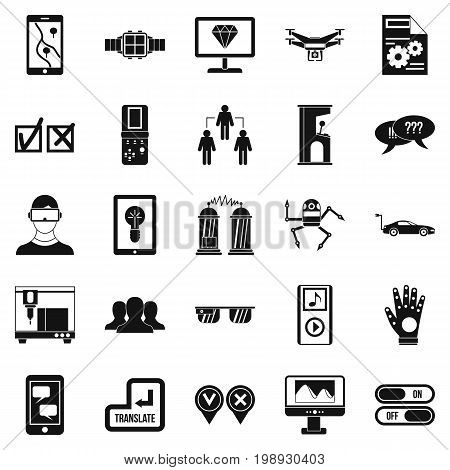 Mind icons set. Simple set of 25 mind vector icons for web isolated on white background