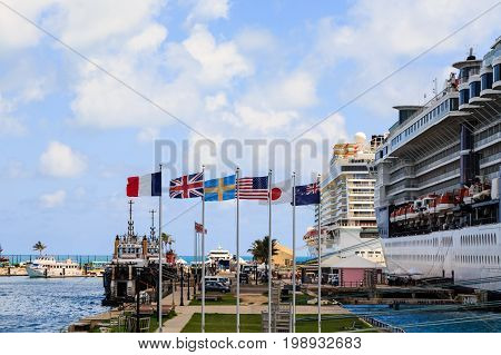 Harbor and Six Flags by Bermuda Cruise Ships