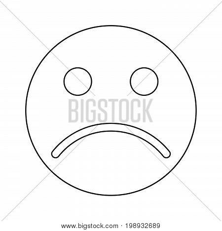Sad Emoticon Black Color Icon .