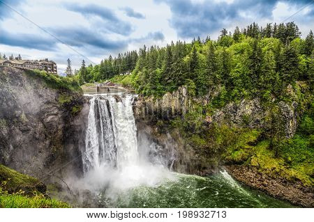 Snoqualmie Falls near Seattle Washington in the Pacific Northwest