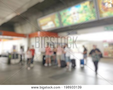 Blurred Image Of People, Multi Ethnicity And Age People Attendance, Male And Female Or Crowd Of Peop